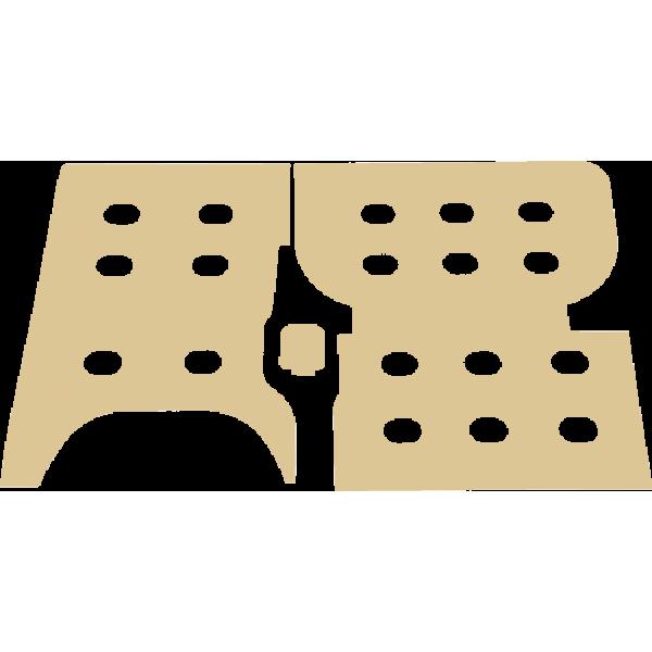 Zijwanden 12mm Multiplex Blank Trafic, Vivaro, Talento en NV300